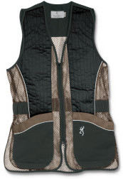 Browning shooting vest for her in black and brown