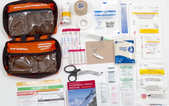 Whitetail First Aid Kit stocked with supplies