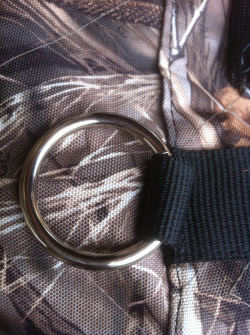 Mud River Tie Down Rings on Kennel Cover Close up