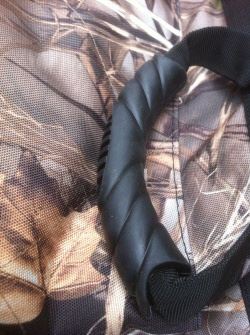 Heavy Duty Rubber handles make picking up the Camo Mud River Dixie Cover easy as pie!