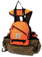 q5 Center Fire Quail - Pheasant Strap Vest with backpack and shell bag attached